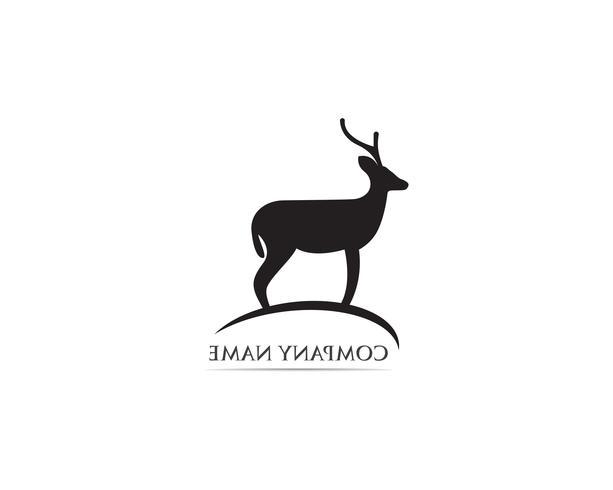 Hirsch Logo und Symbol Vektor