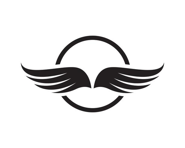 Flacon vinge mall ikoner vektor design