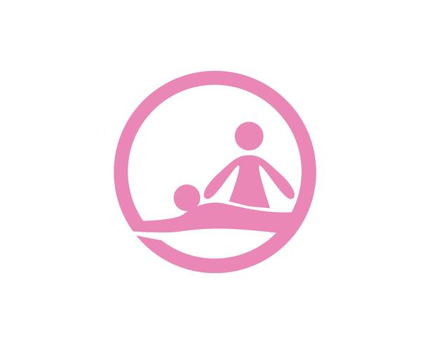 Menschen gesundes Leben Logo Vorlage Vektor Icon
