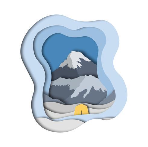 Everest basläger vektor
