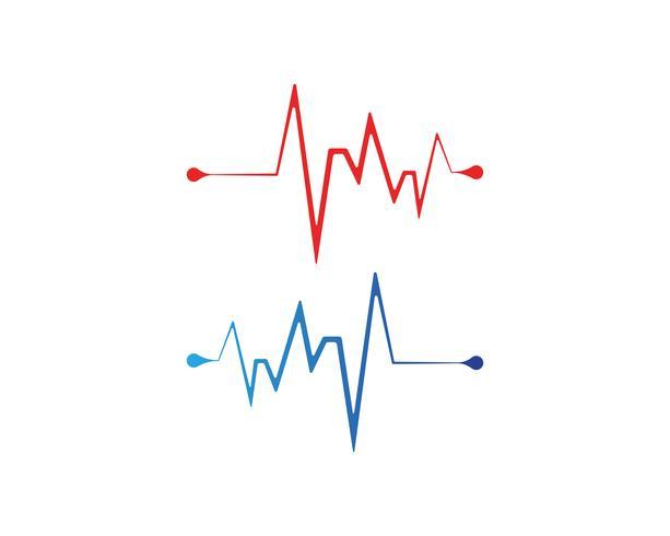 Herzschlag Linienvektoren vektor