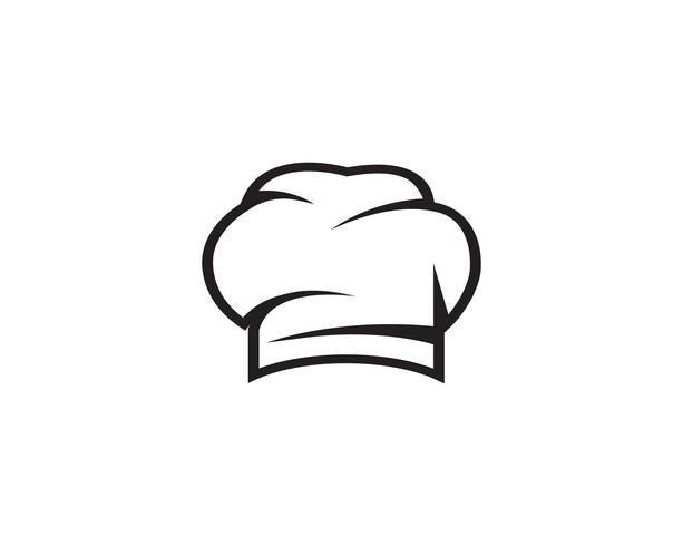 Chef Hut Logo und Symbole schwarz Vektor Farbsymbol
