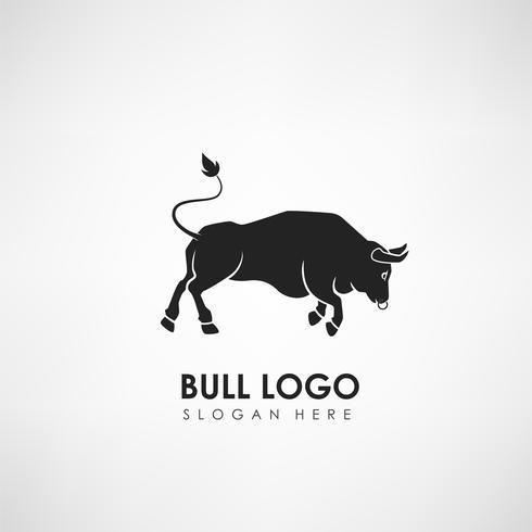 Bull Konzept Logo Vorlage. Label für Sportmannschaft, Firma oder Organisation. Vektor-illustration vektor