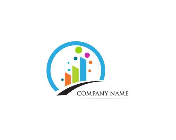 Finanzen Logo Vektor Vorlage Illustration