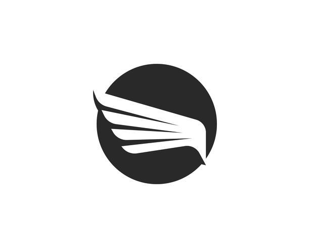 Falcon Wing Logo Mall vektor ikon design