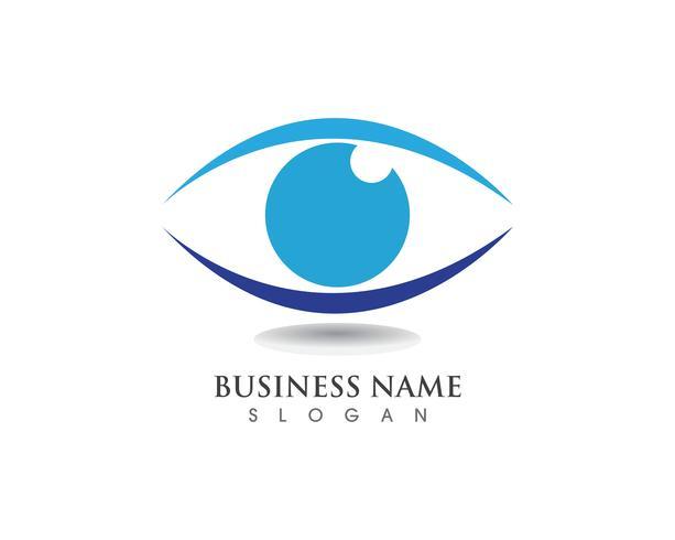 Gesundheitssymbole des Augenpflege-Logos vektor