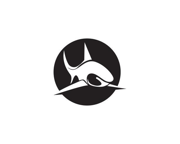 Haifischfisch-Tierlogo und Symbolvektor vektor