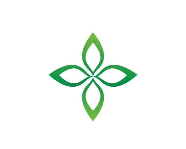 Lotus-Blumenlogo und Symbolvektor-Schablonenikone vektor