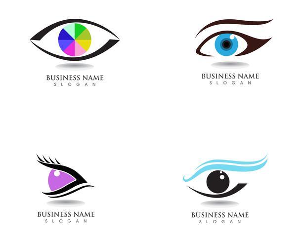 Augensorgfalt-Gesundheitslogo und -symbole vektor