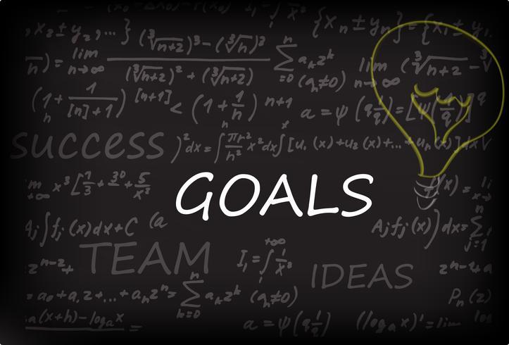 Ziele auf Kreidetafel vektor