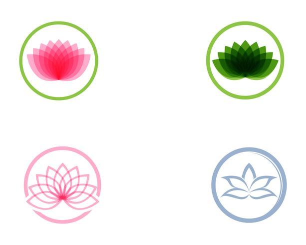 Lotus-Blumenlogo und Symbolvektorschablone vektor