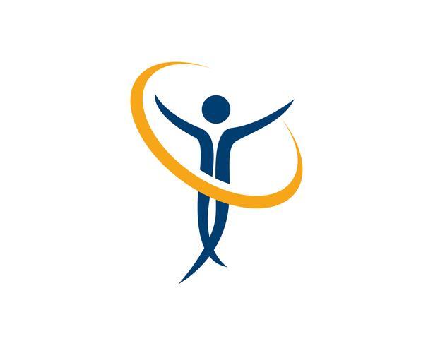 Gesundheitsleute Logo und Symbolerfolgsgesundheit vektor
