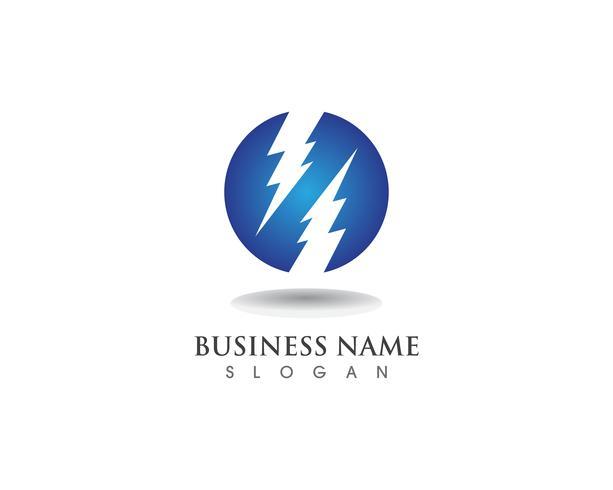 blixtnedslag elkraft vektor logotyp design
