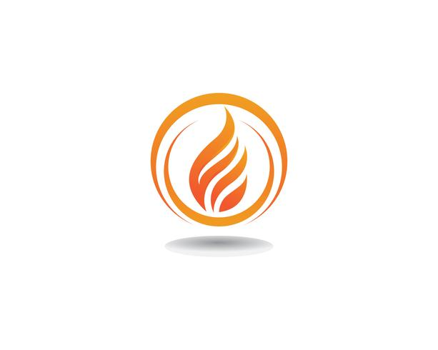 Feuer Logo Template-Vektorikone Öl-, Gas- und Energielogokonzept vektor