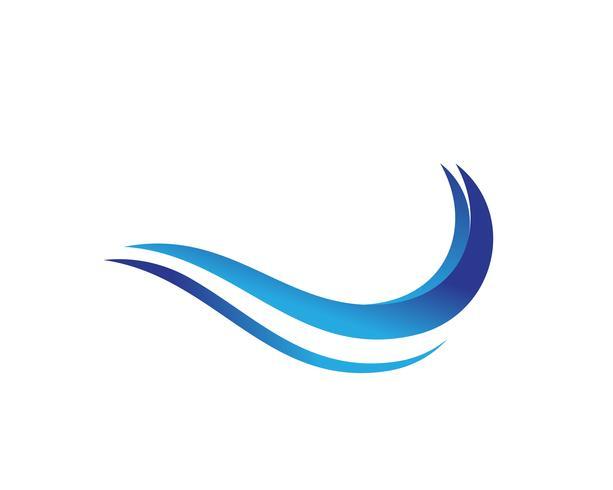 Splash vatten våg strand logotyp och symbol vektor