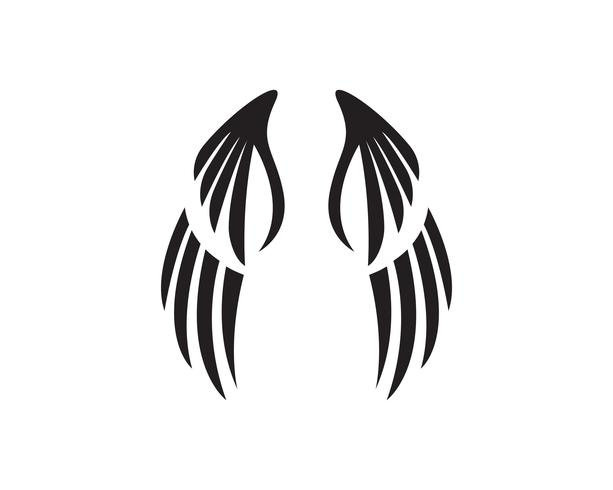 Eagle Wing Falcon-Logo und Symbolschablonenvektor vektor