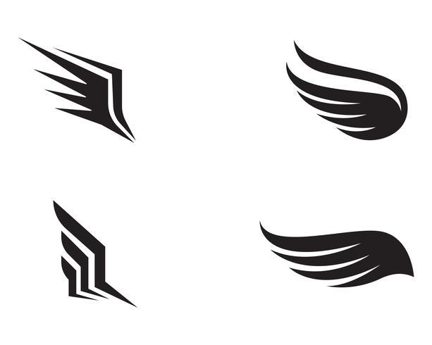 Flakonflügelschablonenikonen-Vektordesign vektor