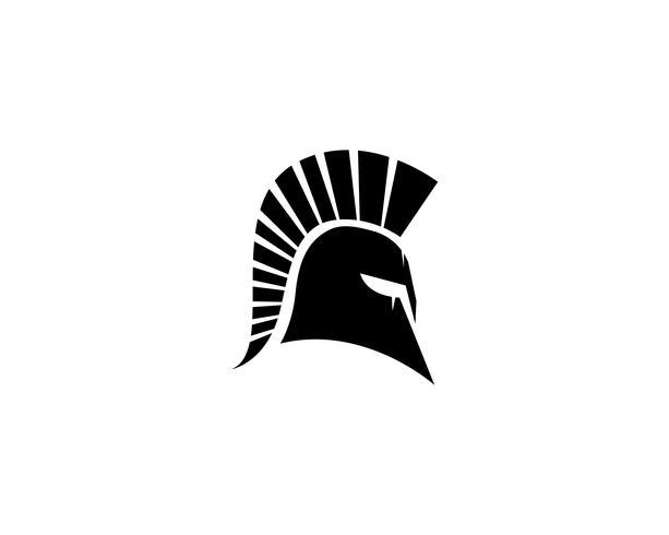Spartanischer Sturzhelmlogovektor vektor