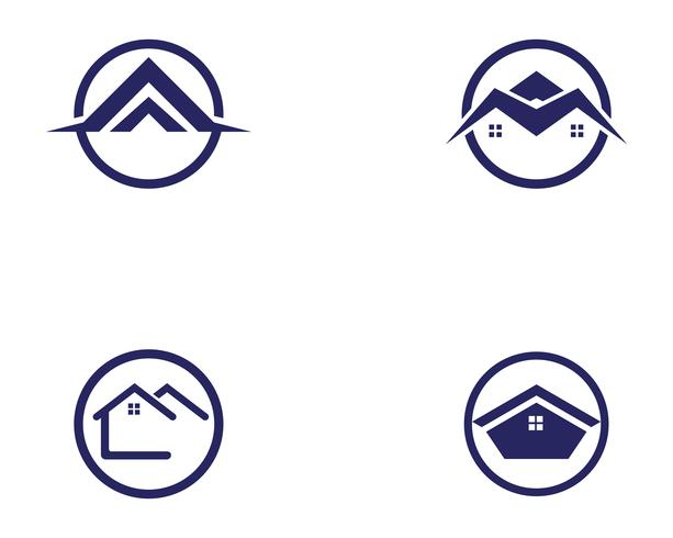 Haus Gebäude Logo Symbole Symbole Vorlage vektor