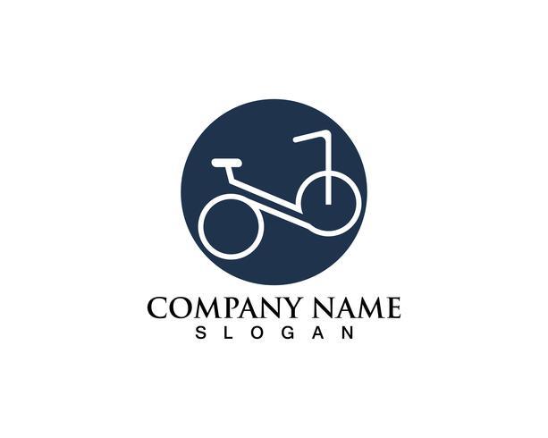 Fahrradlogo und Symbolvektor vektor