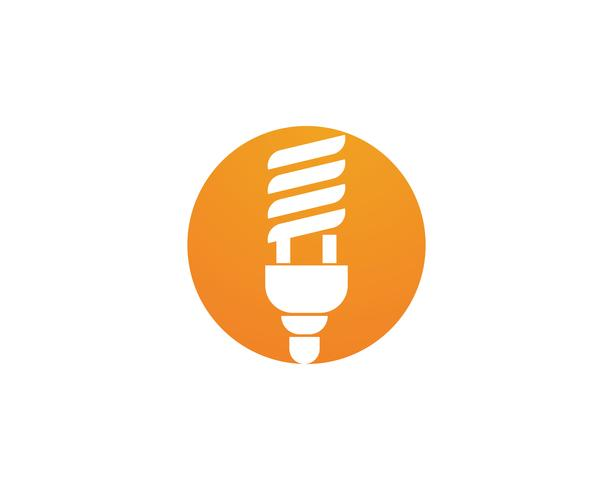 Glühbirne Logo Vektor Illustration Vorlage