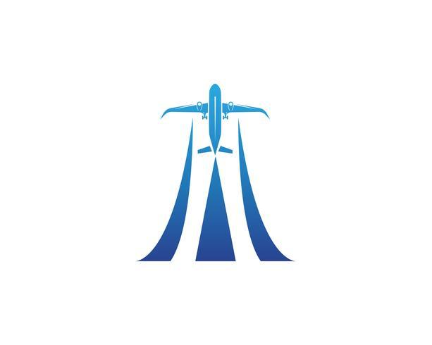 Flugzeug, Flugzeug, Airline-Logo-Label. Reise, Flugreise, Verkehrsflugzeugsymbol. Vektor-illustration vektor