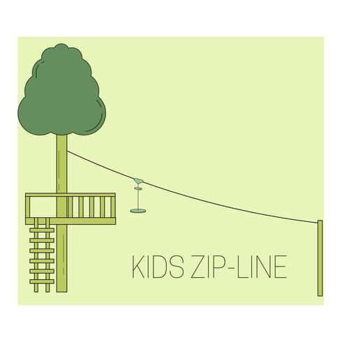 barnens zip-linje vektor