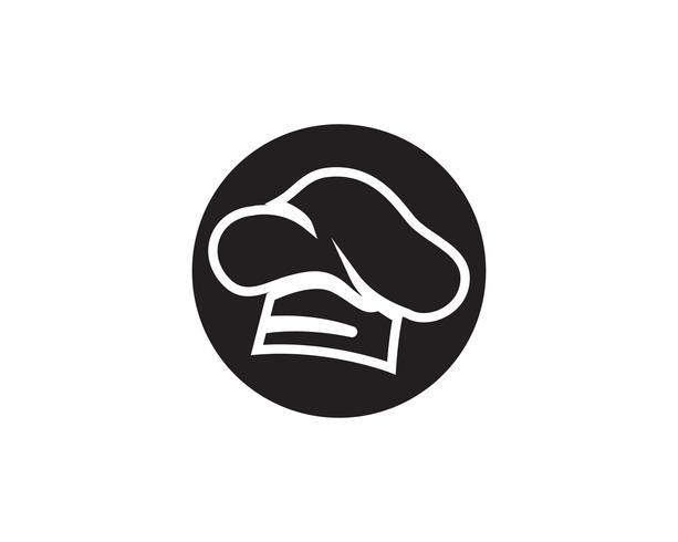 Kockhattlogotyp och symboler svart färgvektorikon vektor