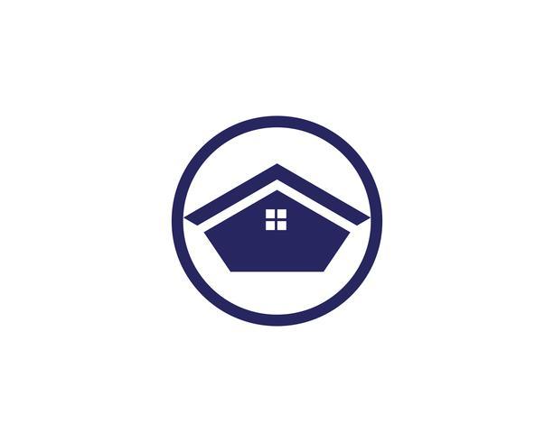 hembyggnader logo symboler ikoner mall vektor