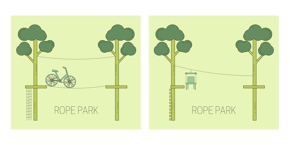Rope park spår vektor