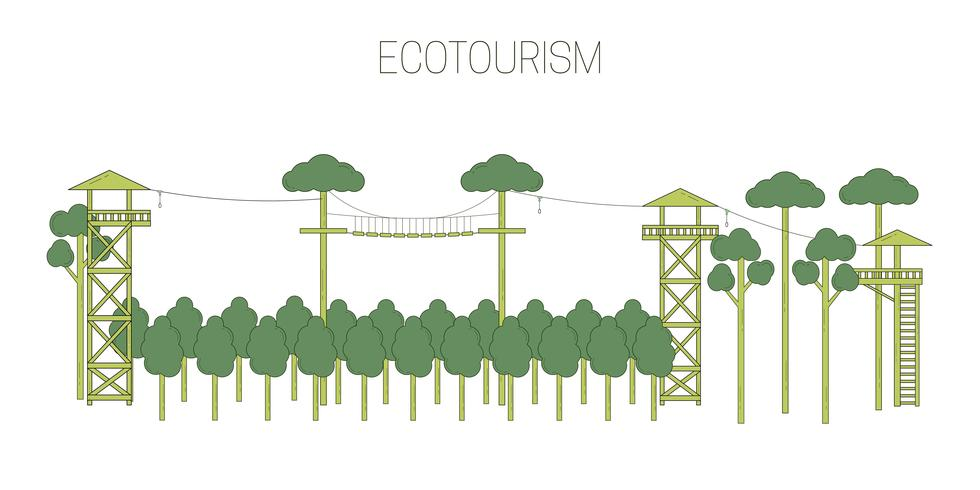 Öko-Tourismus-Abbildung vektor