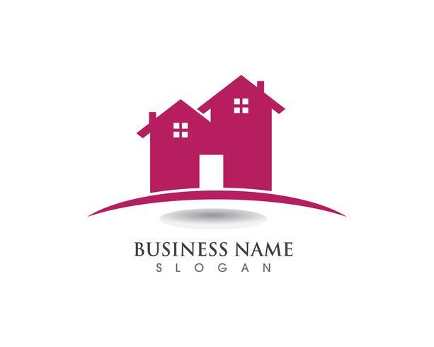 hus och hem logotyper vektor