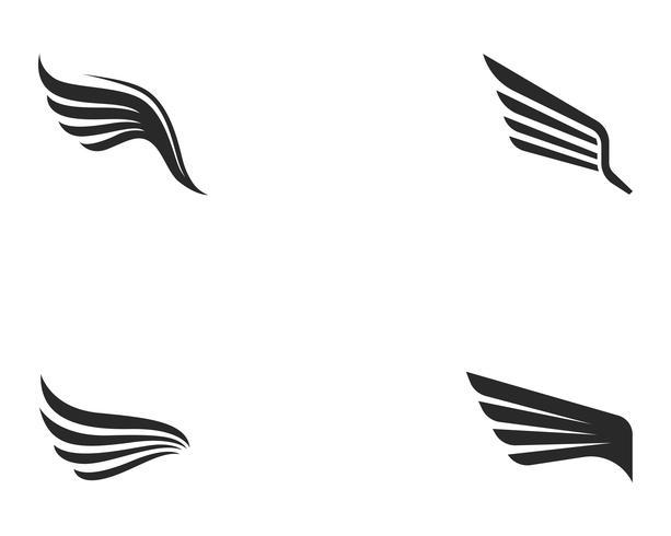 Falcon Wing Logo Template-Vektorikonendesign vektor