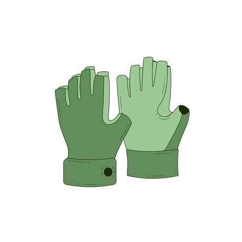 Halffinger handskar ikon vektor
