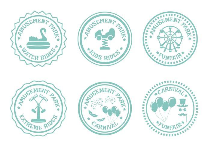 Briefmarken für Vergnügungsparks vektor