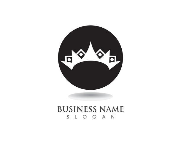 Krone Logo Template-Vektorillustrationen vektor