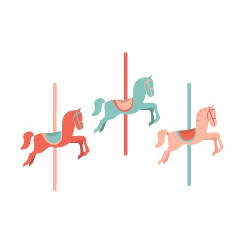 karusell häst ikon vektor