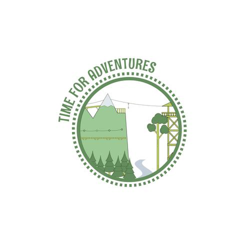 Zeit für Abenteuer Briefmarke. vektor