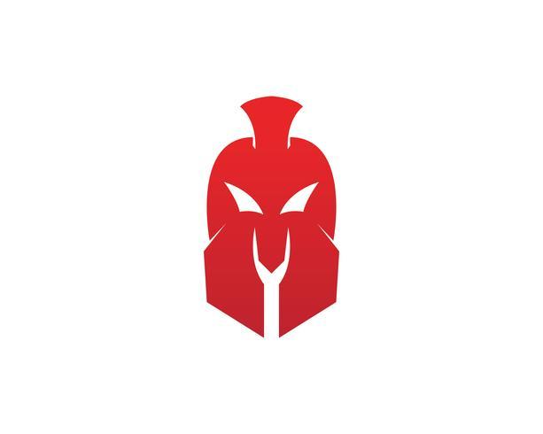 Gladiator Spartan hjälm logotyp mall vektorikonen vektor
