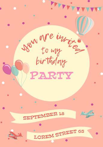 Geburtstag Einladungskarte vektor