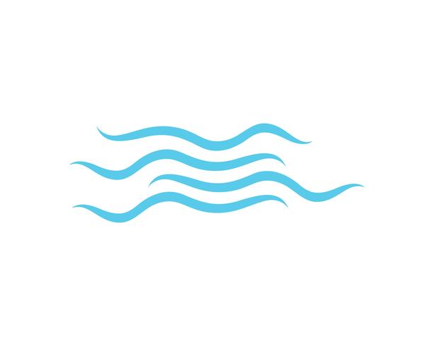 Wave beach logo och symboler vektor mall