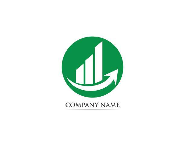 Finans logotyp vektor mall illustration