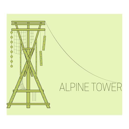 Alpe tornikonen vektor