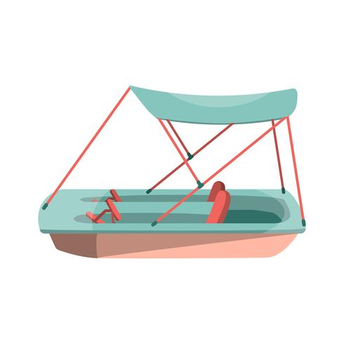 Tecknad pedal båt ikon vektor