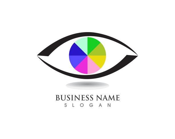 Ögonvård hälsa logotyp och symboler vektor