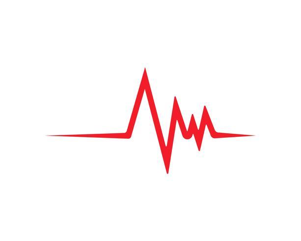 hjärtslag linje vektor mall