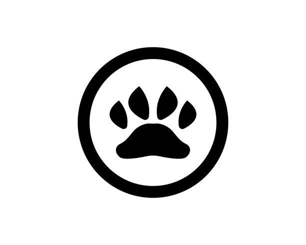 Fottryck hunddjur husdjur logotyp och symboler vektor