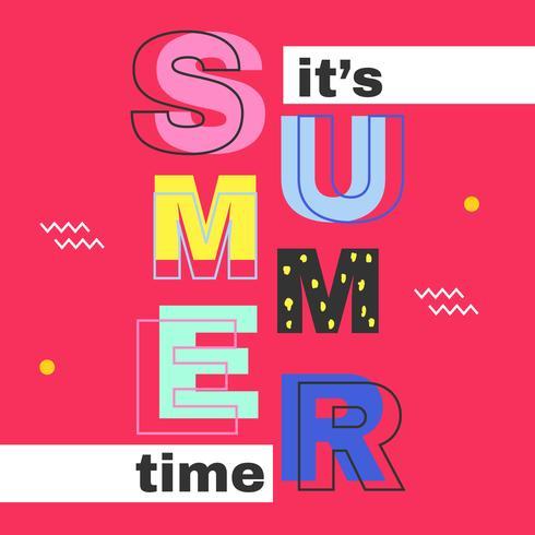 Es ist Sommerzeit-Vektor vektor