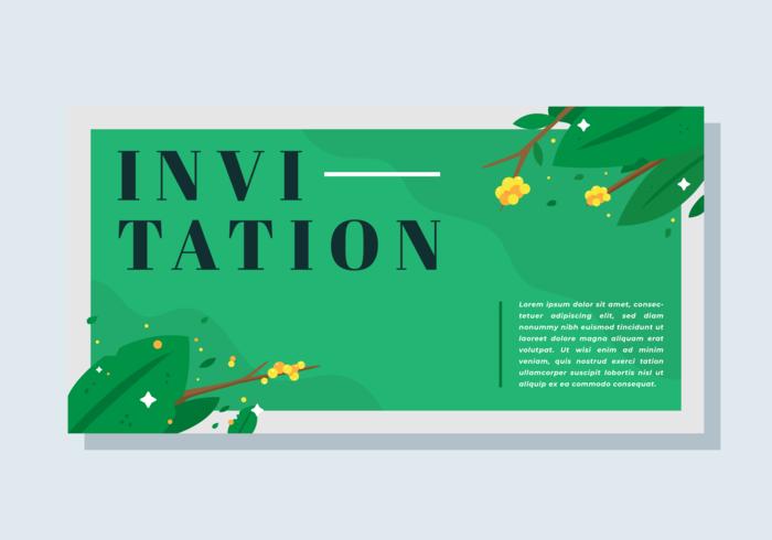 Einladungskarte Vektor