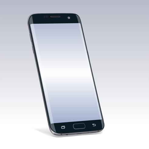 Realistisches neues schwarzes Smartphonegerät verspotten oben vektor
